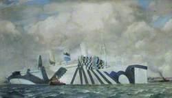 'Aquitania' in Dazzle Paint