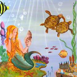 Mermaid and Turtles