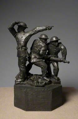 Maquette for 'Blitz Firemen'