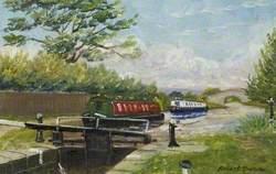 New Marton Lock on the Llangollen Canal