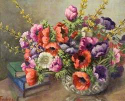 Anemones in a Glass Bowl