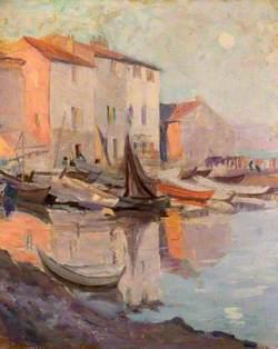 Mediterranean Harbour Scene