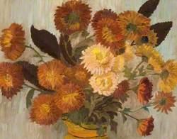 Chrysanthemums in a Jug