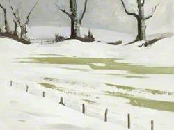 Snowdrifts at Hill House, Combe Raleigh