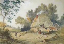 Landscape with Thatched Cottage