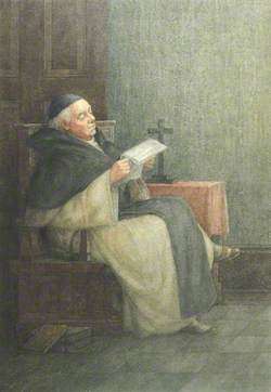 A Priest Reading