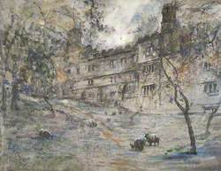 Sheep Grazing by Haddon Hall