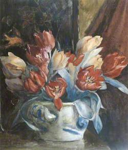 Mixed Tulips in a Bowl