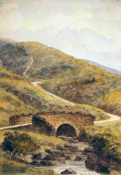 A Stone Packbridge in a Moorland Scene