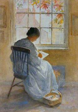 Kate Cowderoy Drawing or Painting at a Window