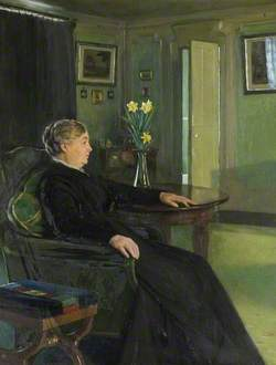 Mrs Maria Susan Chewett (1836–1918), the Artist's Mother, in the Drawing Room