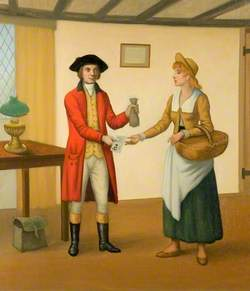 James Snook Giving a Servant Girl a Fifty Pound Note which Led to His Arrest