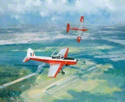 DHC-1 Chipmunks over Gatow, Germany