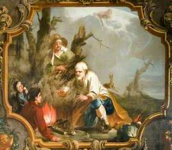 Winter, Peasants at a Fire