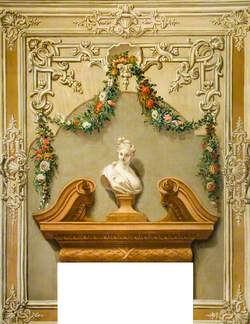 Classical Bust with a Garland of Flowers