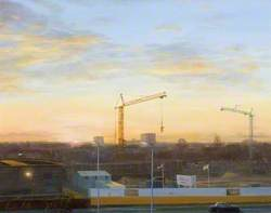 Sunrise over Hatfield, Construction of the A1 Underpass