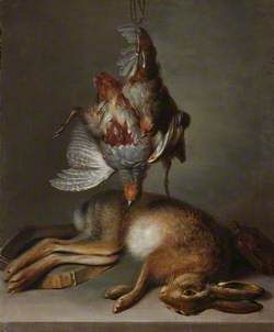 Still Life of Dead Hare and Partridge