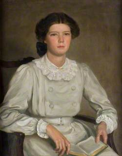 Ailsa Marr Hatton (1893–1949), in a Grey Dress