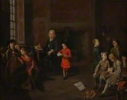 A Schoolmaster Holding a Children's Class