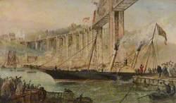 The Opening of the Saltash Bridge by Prince Albert, 2 May 1859