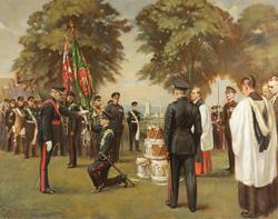 Presentation of Colours to the 1st Battalion Worcestershire Regiment