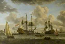 Dutch Shipping Scene: Seascape