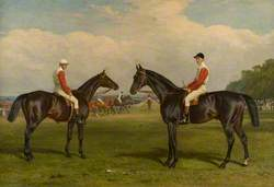 The Racehorses 'Merry Andrew' and 'Chillington'
