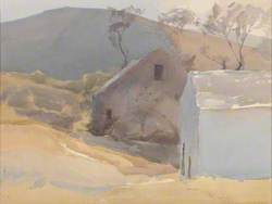 Watermill with Hills Beyond