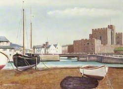 Castle Rushen from Castletown Harbour