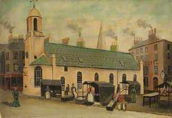 Old St Matthew's Church and Douglas Market Place