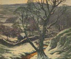 Tree and Landscape in Snow