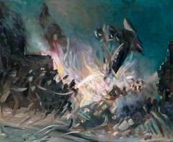 Aeroplane Crash, North London, May 1940