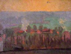 An Aeroplane: View from the Compound, Alexandra Palace Civil Internment Camp