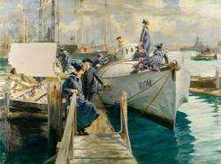 Women's Royal Naval Service Officer and Ratings: Boat Cleaning at the Coastal Motor Boat Base, Haslar Creek, Portsmouth