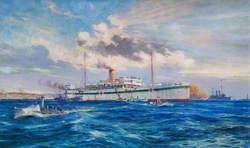 Royal Navy Hospital Ship 'Somali' off Cape Helles: Walking Cases Coming on Board
