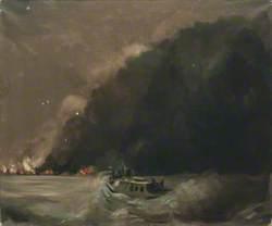 The London Fireboat 'Massey Shaw' Approaching Dunkirk at 11pm, 2 June 1940
