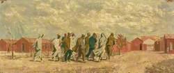 French and Arab Prisoners at Mecheria Internment Camp, Algeria