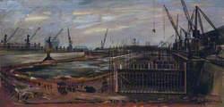 Sketch for 'London Docks'