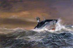 HMS 'Biter' in an Arctic Gale