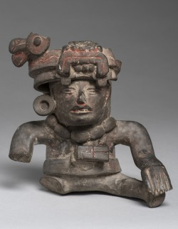 Human Figure with Necklace and Feathered Headdress