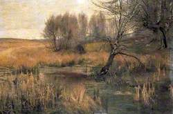 Marshy Landscape with Trees