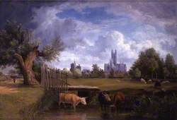 Canterbury, Kent, from the Stour Meadows