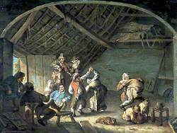 Peasants Dancing in a Barn