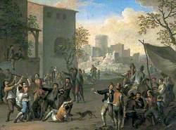 Peasants Brawling in a Village Street