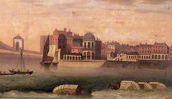 Droit House with Bathing Machines, Margate, Kent