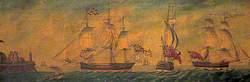 British Warships off Reculver, Kent