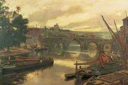 The Old Bridge at Maidstone, Kent, Looking South