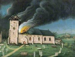Speldhurst Church, Tunbridge Wells, Kent, Struck by Lightning