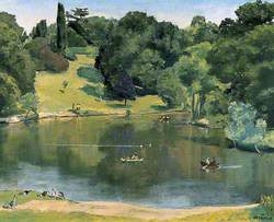 The Lake in Dunorlan Park, Tunbridge Wells, Kent