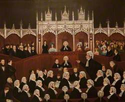 A Sketch in the Shire Hall (Trial of Edward Gibbon Wakefield, 1826)